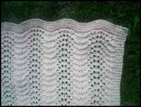 Wishing I was Knitting at the Lake: Feather and Fan Rainbow Baby Blanket