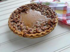 Pumpkin Pie with Praline Edge: Photo - 1   Just A Pinch Recipes