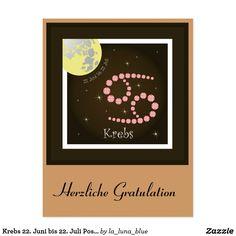 Juni, Poster, Frame, Home Decor, La Luna, June 22, Astrology Signs, Postcards, Photo Illustration