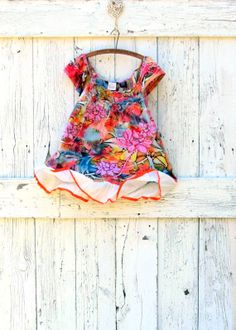 Upcycled Bohemian Floral Summer Top  Bright Indie by wearlovenow, $39.00  #bohemian, #indie fashion, #upcycled summer top, #bright colors tunic