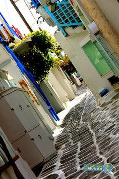 Ruelas de Mykonos Grecia