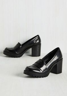a6245d3dc80 Loafer and Done With Heel - Black