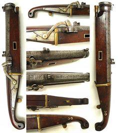 Antique samurai 15 monme caliber small hand cannon matchlock,  25 cm barrel, total 45 cm.