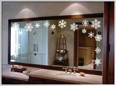 espejos decorados para navidad buscar con google