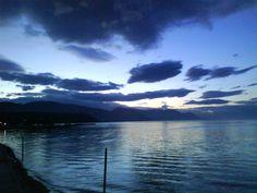 Δύση ηλίου στην Αρκίτσα Φθιώτιδος - Greece Greece, Landscapes, Weather, Sky, River, Island, Celestial, Mountains, Sunset