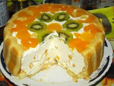 Jacque Pepin, Sweet Tarts, Kiwi, Chicken Recipes, Cheesecake, Pudding, Yummy Food, Sweets, Cooking