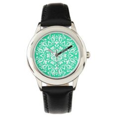 Shop Zazzle's selection of customizable Green watches & choose your favorite design from our thousands of spectacular options. Yoga Gifts, Mandala, Watches, Green, Wristwatches, Clocks, Mandalas