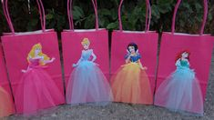 Disney Princesses 6 Birthday Party Favor by FantastikCreations