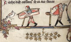 Carrying twins in the margins of the Romance of Alexander, Oxford, Bodleian Library MS Bodley 264