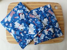 Reusable Snack Bag with velcro closure (Patriotic Pups)  / In stock and ready to ship by ESTHERandREEVES on Etsy