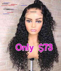 CLEARANCE SALE 150% Lace Front Wigs Curly Thriving Hair CLEARANCE SALE 150% Lace Front Wigs Curly Remy Human Hair With Baby Hairs For Women [TPF28-FRONT]
