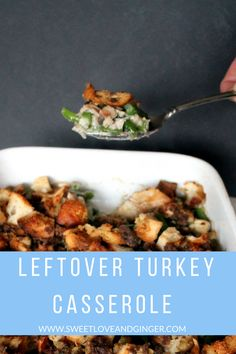 This super easy and delicious recipe for Leftover Turkey & Stuffing Casserole to help you use up those holiday leftovers. Leftover Turkey Casserole, Leftover Turkey Recipes, Leftovers Recipes, Easy Dinner Recipes, Stuffing Casserole, Casserole Dishes, Best Butternut Squash Soup, Turkey Stuffing, Top Recipes