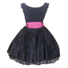 Vintage Black Best Ever Betsey Johnson Party Prom Dress Punk Label     Offered by Ruby Lane shop The Vintage Carousel