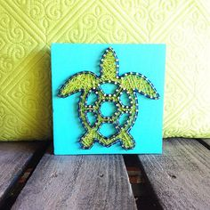String Art Stringart Turtle String Art Sea Turtle by GrizzlyandCo