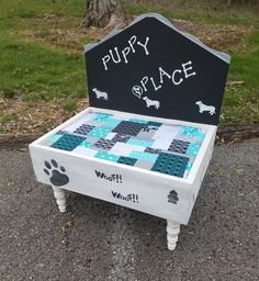 Cute adorable custom dog bed. Located in Booth 512 at Hunt & Burrow