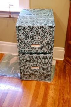 Wrapping paper decoupage file cabinet | An, Cabinets and Old maps