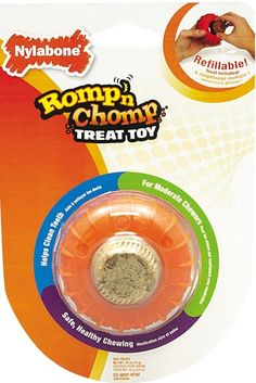 Nylabone Romp 'N Chomp Small Chicken Flavored Roller Bone Dog Treat and Chew Toy ** Learn more by visiting the image link. (This is an affiliate link) #DogChewToys
