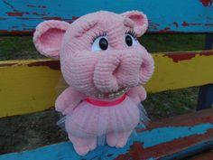 Piggy Knitted Toys stricken Hand gestrickt Schwein von TVGurman1