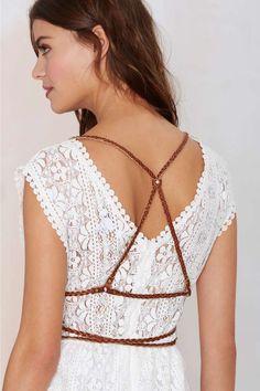 JAKIMAC Braid Raid Leather Harness - Body Chains | Accessories | All | Ménage au Mirage | Lingerie Accessories