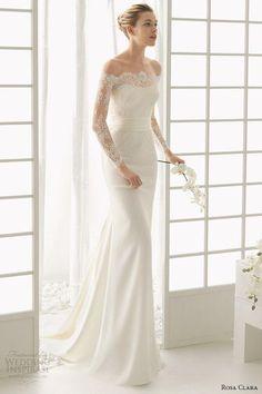 Stunning Long Sleeve Wedding Dresses: Rosa Clara via Wedding Inspirasi