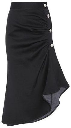 Marni Cotton-blend Skirt In Black