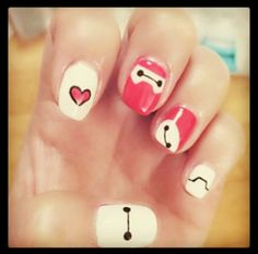Baymax nails