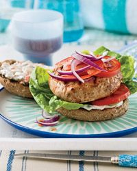 Turkey Burgers with Spicy Pickle Sauce Recipe on Food & Wine