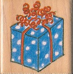 Present Rubber Craft Stamp by MomsCreateMemories on Etsy,