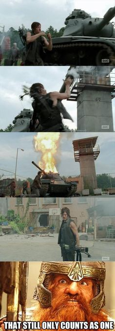 Just realized!! Daryl is the Legolas of Walking dead OHHH GOD BOTH ATE HOTTIES TO