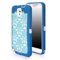 Note 3 Case, Galaxy Note 3 Case, SGM Dual Layer Protection High Impact Hybrid Armor Case For Samsung Galaxy Note 3 III N9000 (Compatible with Verizon, AT&T, Sprint, T-Mobile Note 3 Versions) (Turquoise + White (Vintage)) SGM http://smile.amazon.com/dp/B00JA0ZR3G/ref=cm_sw_r_pi_dp_.K-3ub0VNBTT8