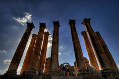 Jerash (Jordan). 'For a country so small, Jordan punches well above its weight in world-class monuments, boasting some of the finest Roman ruins outside Rome. Most countries would be pleased to have attractions like the Citadel or the Roman Theatre in Amman, but these pale into insignificance compared with the superbly preserved ruins at Jerash.'