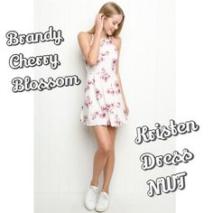 Brandy Floral Cherry Blossom Kristen Dress Gorgeous cherry blossom printed Brandy Melville Kristen dress. Features lux silky fabric, adjustable straps, and a stunning floral cherry blossom print. Hard to find, rare item! Not sure I want to sell, as this dress is so beautiful. Will only give it up for the right price. Brand new with tags. One size fits most, but suggested XS-M. Considering trades for select NWT (or rare without tags/pre loved) Brandy only. Also have shorts and a tank in this…