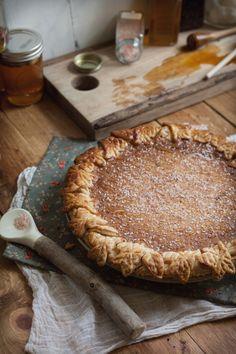Adventures in Cooking: Salted Rose & Honey Pie - A delicious Autumn dessert Unique Desserts, Fall Desserts, Just Desserts, Delicious Desserts, Yummy Food, Tart Recipes, Baking Recipes, Dessert Recipes, Sweets Recipe