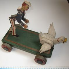 Speelvogel --> Verzameling oud speelgoed - Collection Jouets anciens - Collection old Toys - Sammlung Altes Spielzeug Antique Toys, Vintage Toys, Pull Toy, Paradis, Old Toys, Wooden Toys, The Past, Construction, Cars