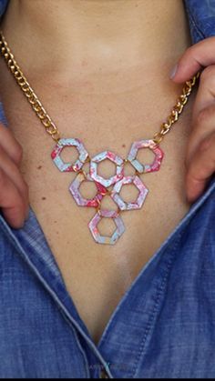 Painted Statement Necklace
