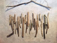 Embroidered Drift Wood Wall Hanging