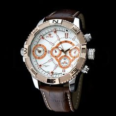 Pánské hodinky - Gino Rossi, Bunt, hnědé Gin, Watches, Accessories, Fashion, Moda, Fashion Styles, Clocks, Clock, Fasion
