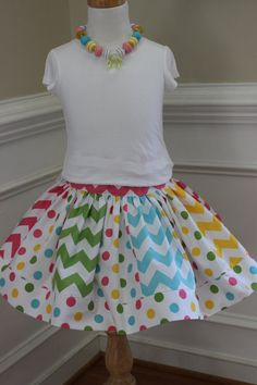 Easter skirt girl Easter chevron skirt by LightningBugsLane #rileyblakedesigns #easter #girl #chevron