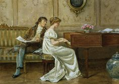 Woman at the Piano, George Hamilton Barrable