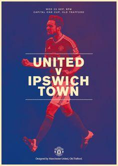 Match poster. Manchester United v Ipswich Town, 23 September 2015. Designed by @ManUtd