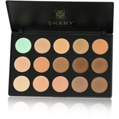 Shany Cream Foundation and Camouflage Concealer Palette ($20) ❤ liked on Polyvore featuring beauty products, makeup, face makeup, concealer, beauty, creamy concealer and shany
