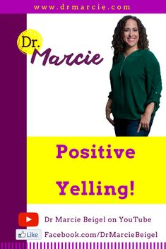 Join the conversation with me (Dr. Marcie) and Amy. Learn how to stop yelling at your kids and start positive yelling. See Positive Yelling in action. Hear ways to stop the parenting differences that strain your marriage.