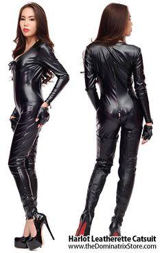 Luxury Harlot Leatherette Catsuit