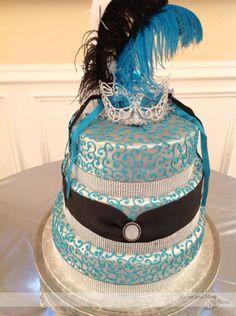 #masquerade #party #cake