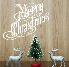 Dailinming PVC Wall Stickers English merry christmas Merry Christmas Showcase InteriorWallpaper80 cm x 60 cmBrown >>> You can get additional details at the image link.