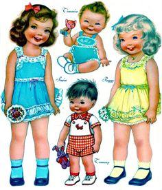 Muñecas para recortar y jugar | El blog de Las Cosas de Mami