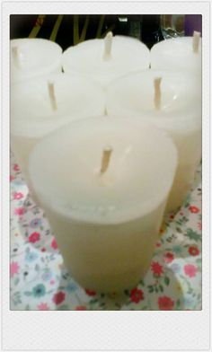 My homemade Vanilla Votive Candles