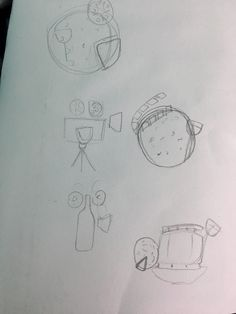 thumbnail sketches: my idea was to do an image where it shows the 'pizza,wine,movie'