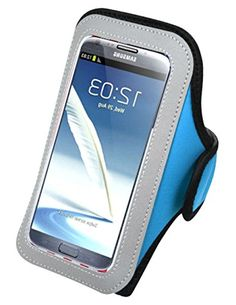 "myLife Dazzling Sky Blue {Rain Resistant Velcro Secure Running Armband} Dual-Fit Jogging Arm Strap Holder for Samsung Galaxy Note 3 ""All Ports Accessible"" myLife Brand Products http://www.amazon.com/dp/B00T56ZH6W/ref=cm_sw_r_pi_dp_EcK-ub0MV2D3P"