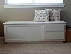 Superbe White Wooden Storage Bench   Home Furniture Design